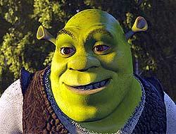 Shrek (voiced by Mike Myers) in