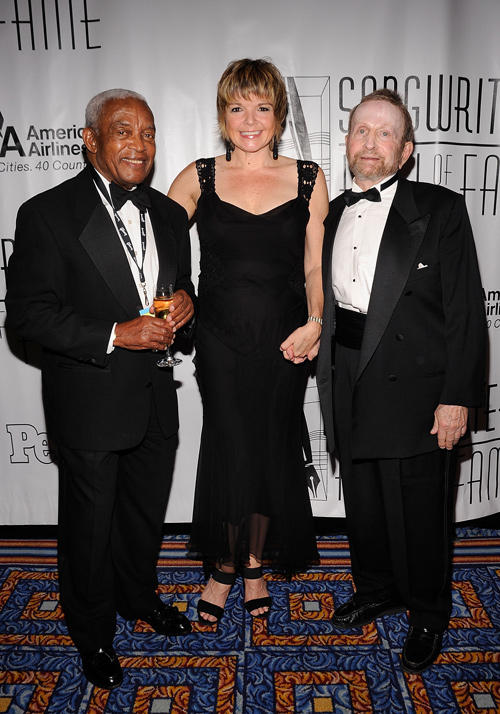 Irving Burgie, Karin Allyson and Johnny Mandel at the 41st Annual Songwriters Hall of Fame Ceremony.