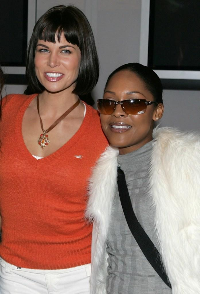 Brooke Burns and Monica Calhoun at the 2005 Sundance Film Festival.
