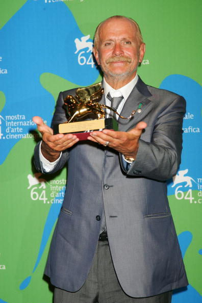 Nikita Mikhalkov at the Leone d'Oro del 75th closing ceremony photocall during the 64th Venice Film Festival.