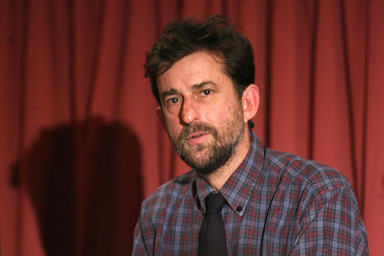Nanni Moretti at the promotion of film