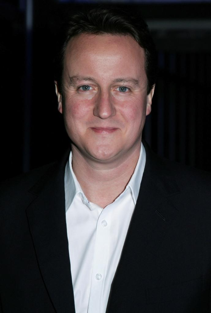 David Cameron at the Conservative Party Black & White Ball.