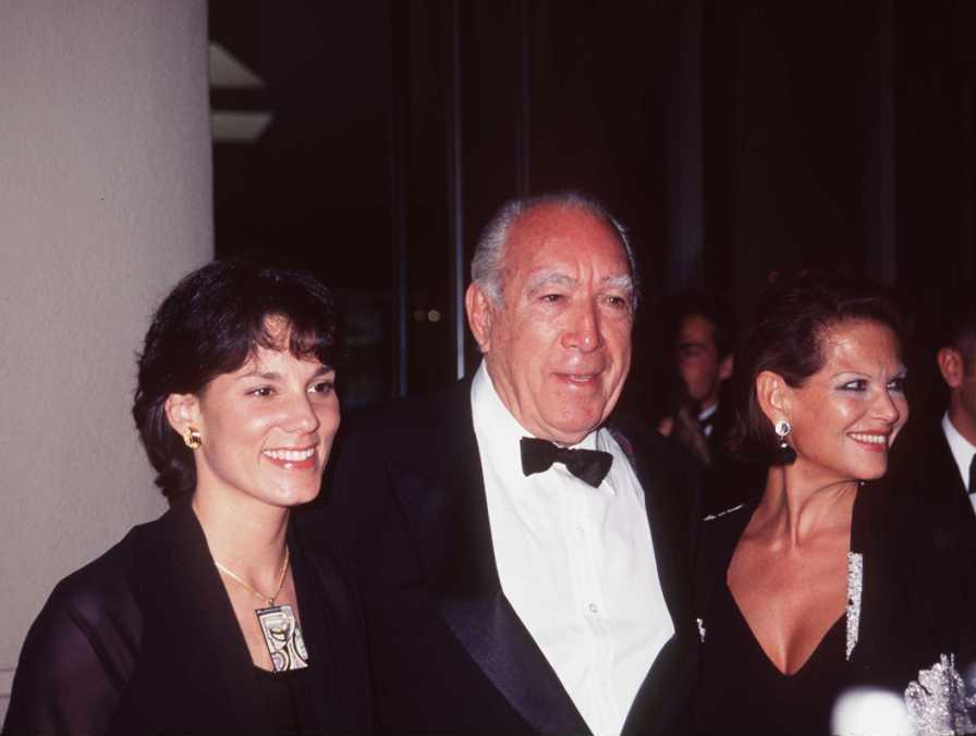 Claudia Cardinale, Anthony Quinn and Guest at the Third Annual International Achievement In Arts Awards.