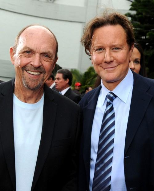 John Ashton and Judge Reinhold at the Jerry Bruckheimer hand and footprint ceremony.