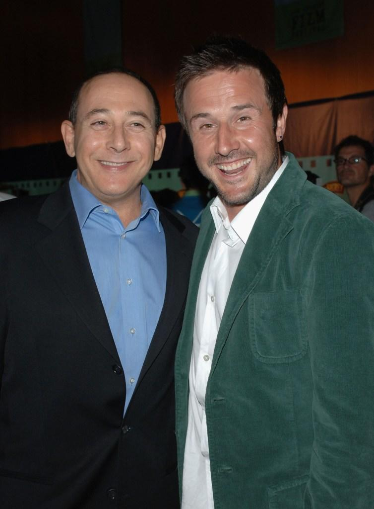 Paul Reubens and David Arquette at the after party of the Los Angeles Film Festival screening of