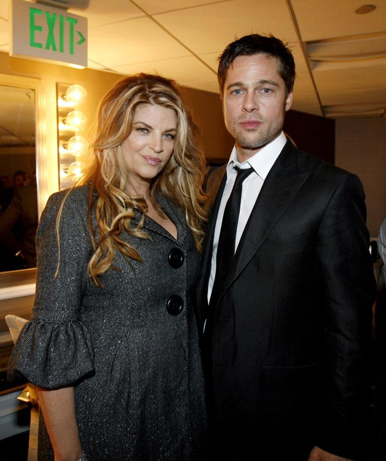 Kirstie Alley and Brad Pitt at the 11th Annual Hollywood Awards.
