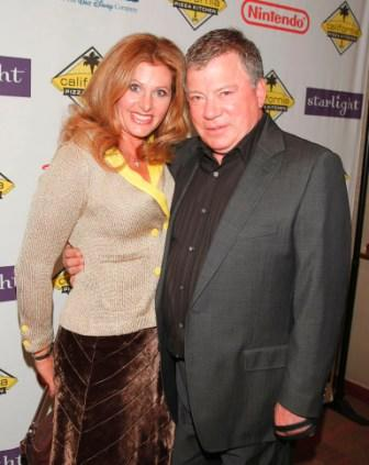 Elizabeth and William Shatner at the Starlight Starbright Children's Foundation's