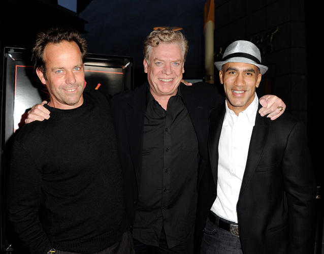 John Stockwell, Christopher McDonald and producer Bill Perkins at the California premiere of