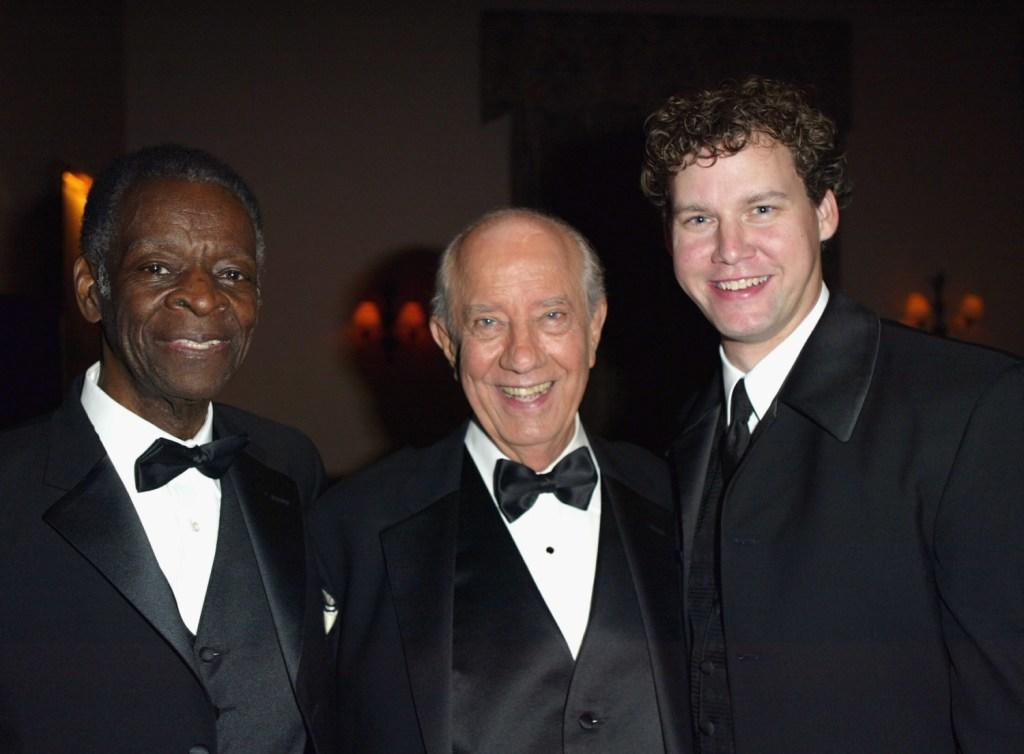 Brock Peters, Ian Abercrombie and Kevin Earle at the post party for the William Holden Wildlife Foundation's 20th Anniversary