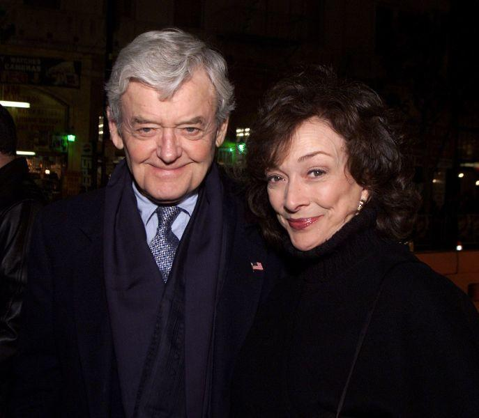 Hal Holbrook and Dixie Carter at the premiere of