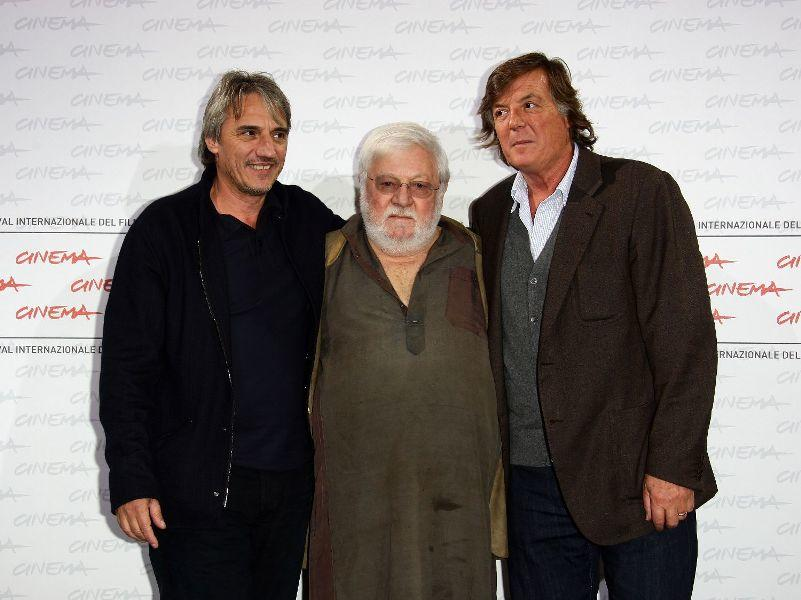 Adriano Panatta, Paolo Villaggio and director Mimmo Calopresti at the 4th International Rome Film Festival.