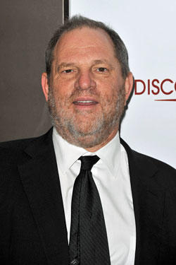 Producer Harvey Weinstein attends the Paris Premiere of the film 'Le Discours d'un Roi' at Cinema UGC Normandie.