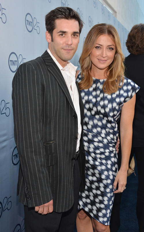 Jordan Bridges and Sasha Alexander TNT's 25th Anniversary Party in California.