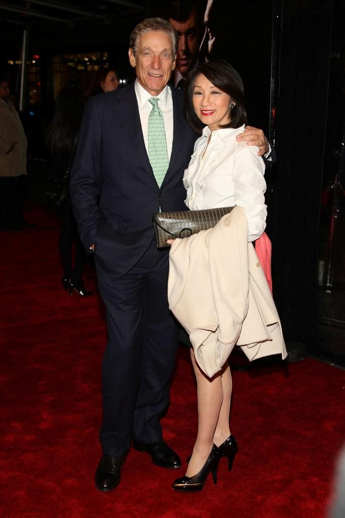Maury Povich and Connie Chung at the premiere of