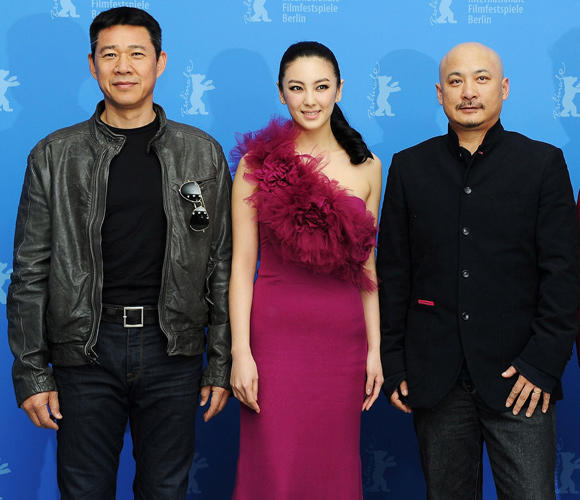 Zhang Fengyi, Zhang Yuqi and director Wang Quan'an at the photocall of