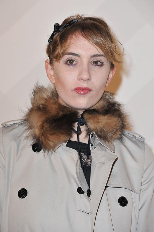 Lolita Chammah at the Burberry Celebrates Paris Boutique opening in France.