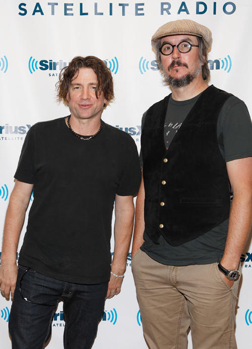 Larry LaLonde and Les Claypool at the SiriusXM Studio in New York.