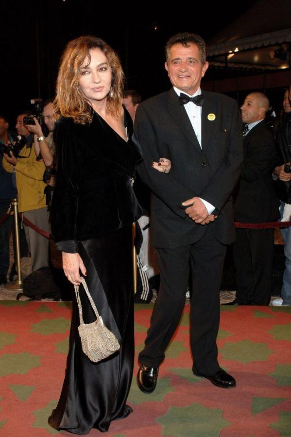 Caroline Cellier and Amidou at the Marrakesh International Film Festival 2005.
