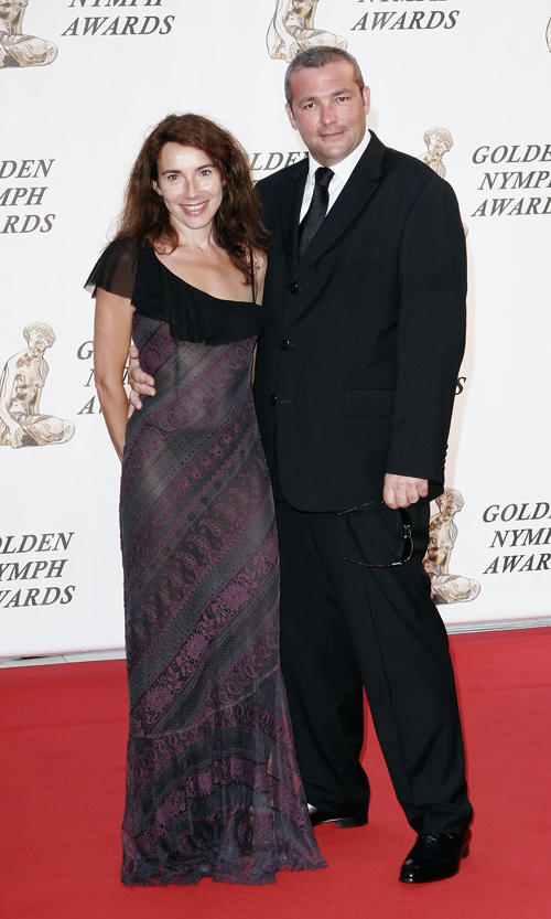 Isabel Otero and Laurent Gamelon at the closing ceremony of the 46th Annual Monte Carlo Television Festival.