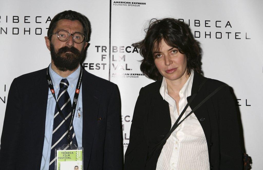 Producer Giovanni DiPasquale and Sabina Guzzanti at the press conference of