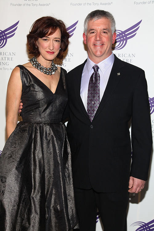 Haydn Gwynne and Gregory Jbara at the American Theatre Wing's 2009 Spring Gala.