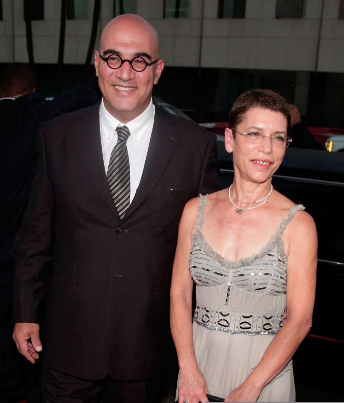 Yigal Naor and guest at the premiere of