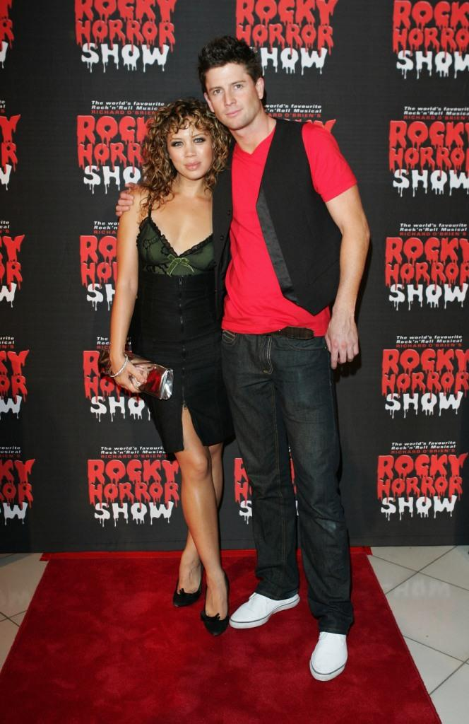 Jade MacRae and Paul O Brien at the Rocky Horror Show.
