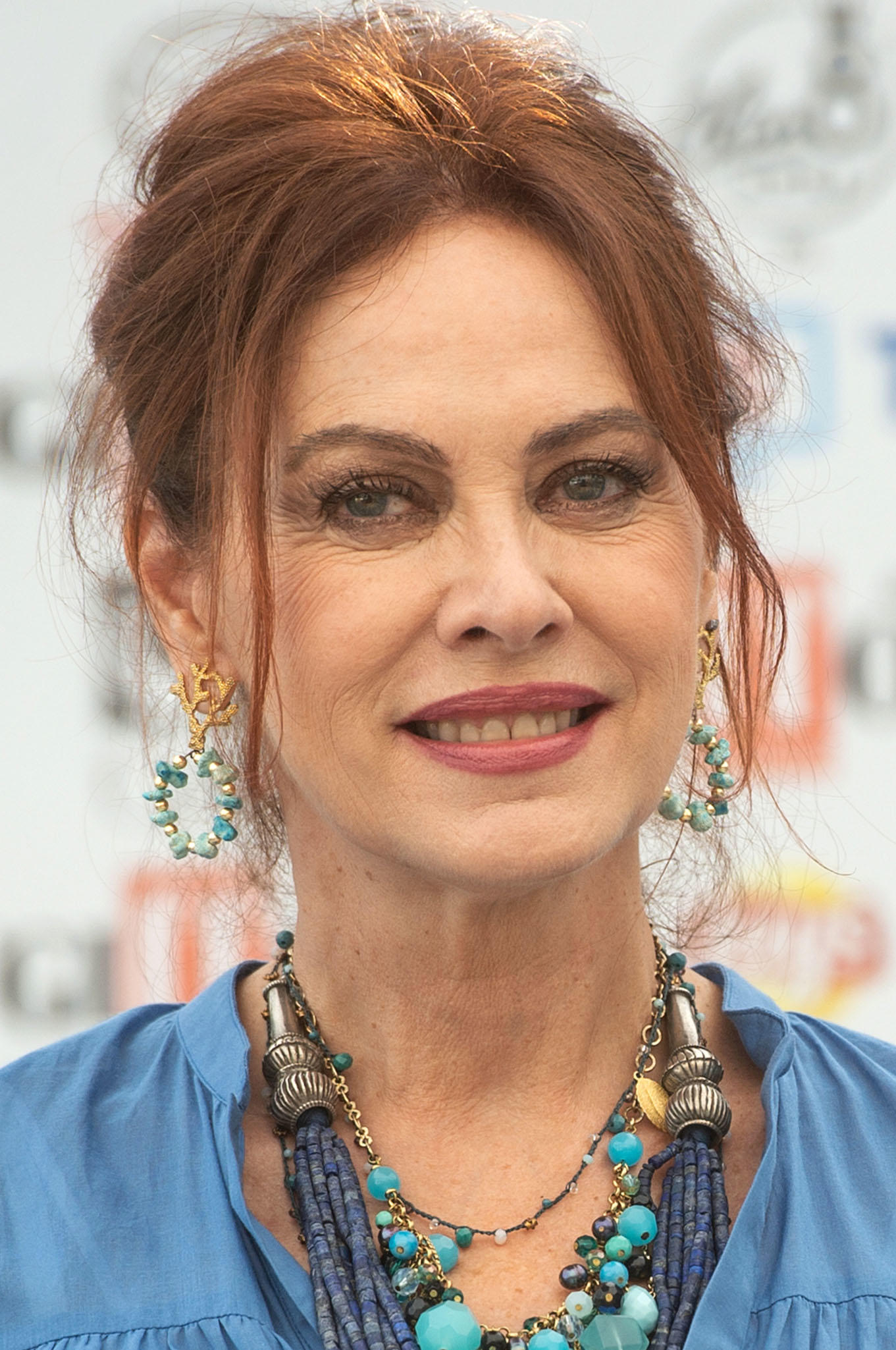 Elena Sofia Ricci during the Giffoni Film Festival 2019.
