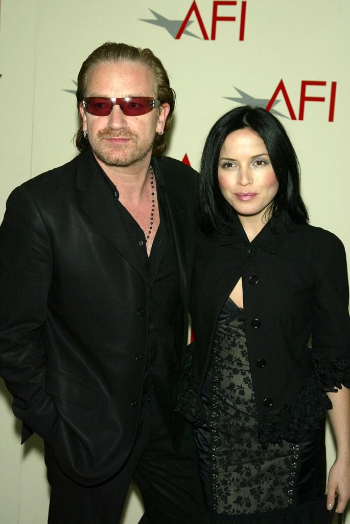 Bono and Andrea Corr at the AFI's 2003 Awards Luncheon.