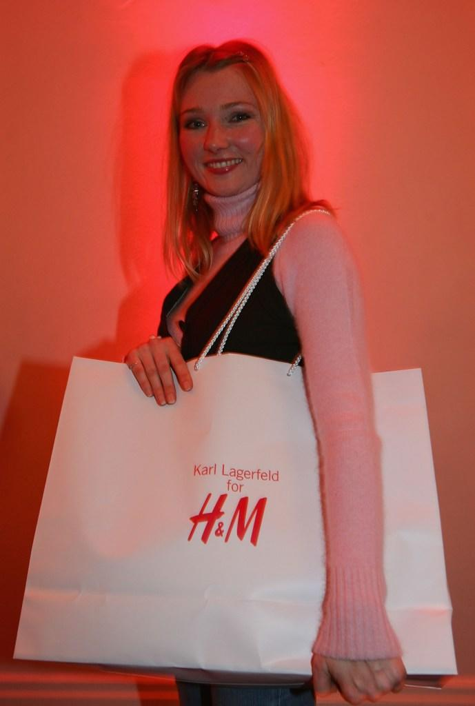 Katja Studt at the launch of Designer Karl Lagerfeld's new collection for high street fashion label H and M.
