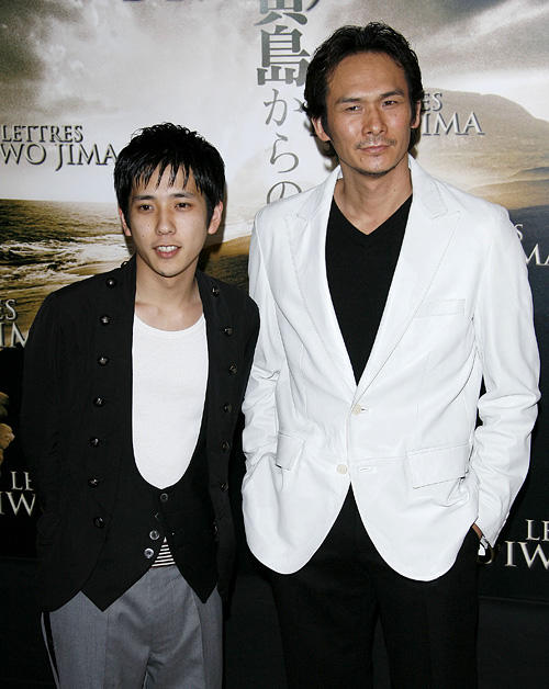 Kazunari Ninomiya and Tsuyoshi Ihara at the photocall of