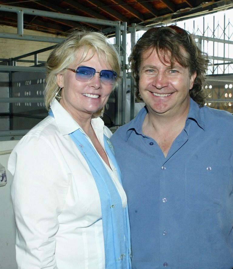 Cathy Lee Crosby and Normand Latourelle at the backstage in Cavalia.