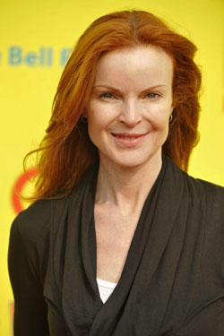 Marcia Cross poses for a picture at the PS Arts 'Express Yourself 2010 charity event held at the Barker Hanger.