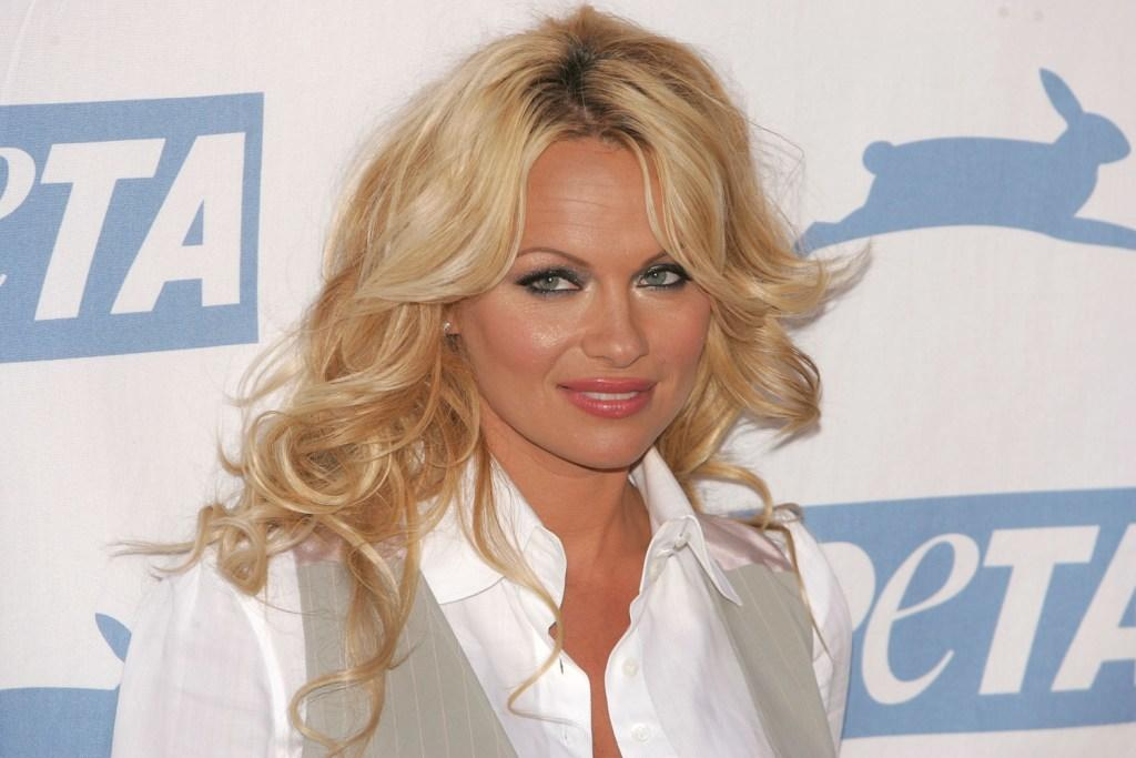 Pamela Anderson at the PETA's 15th Anniversary Gala and Humanitarian Awards.