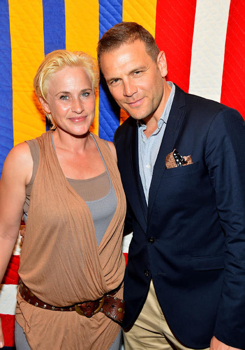 Patricia Arquette and David Cubitt at the 2nd Annual Art Auction and Fundraiser in California.