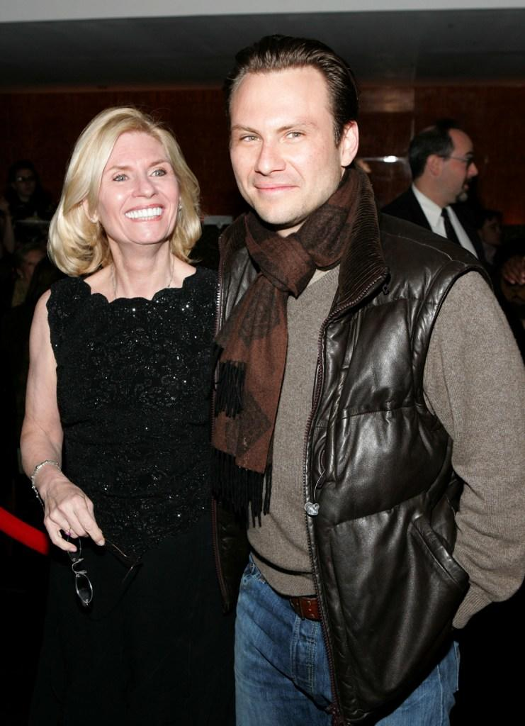 Mary Jo Slater and Christian Slater at the after party of the opening night of