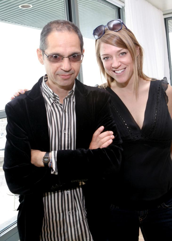 Caveh Zahedi and Stephanie Sanditz at the Tribeca All Access Brunch during the 2008 Tribeca Film Festival.