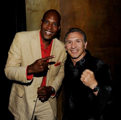 Bo Brown and Ray Mancini at the after party of the premiere of