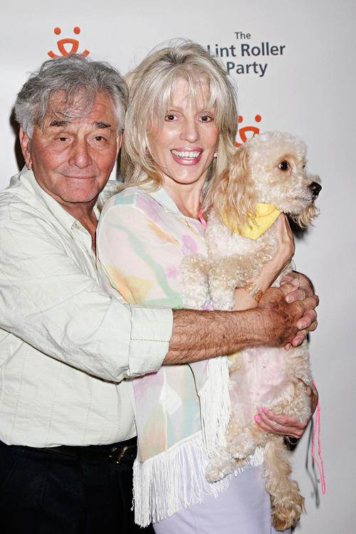Peter Falk and Shera Danese at the 2004 Annual Lint Roller Party in California.