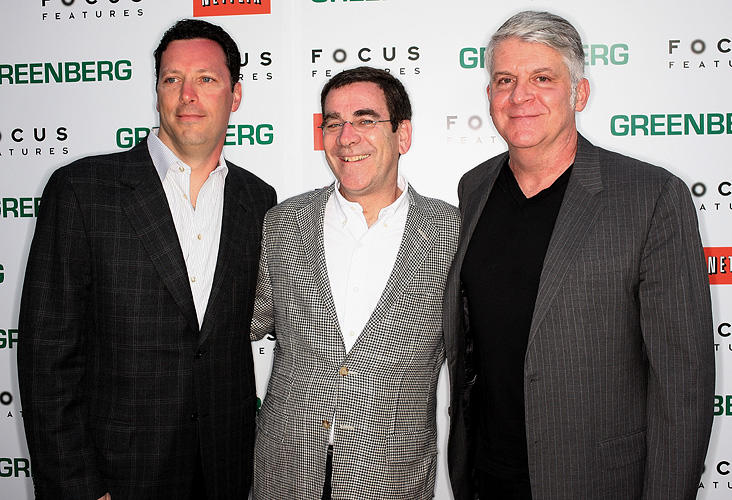 President of Focus Features Andrew Karpen, President of Theatrical Distribution Jack Foley and John Lyons at the California premiere of