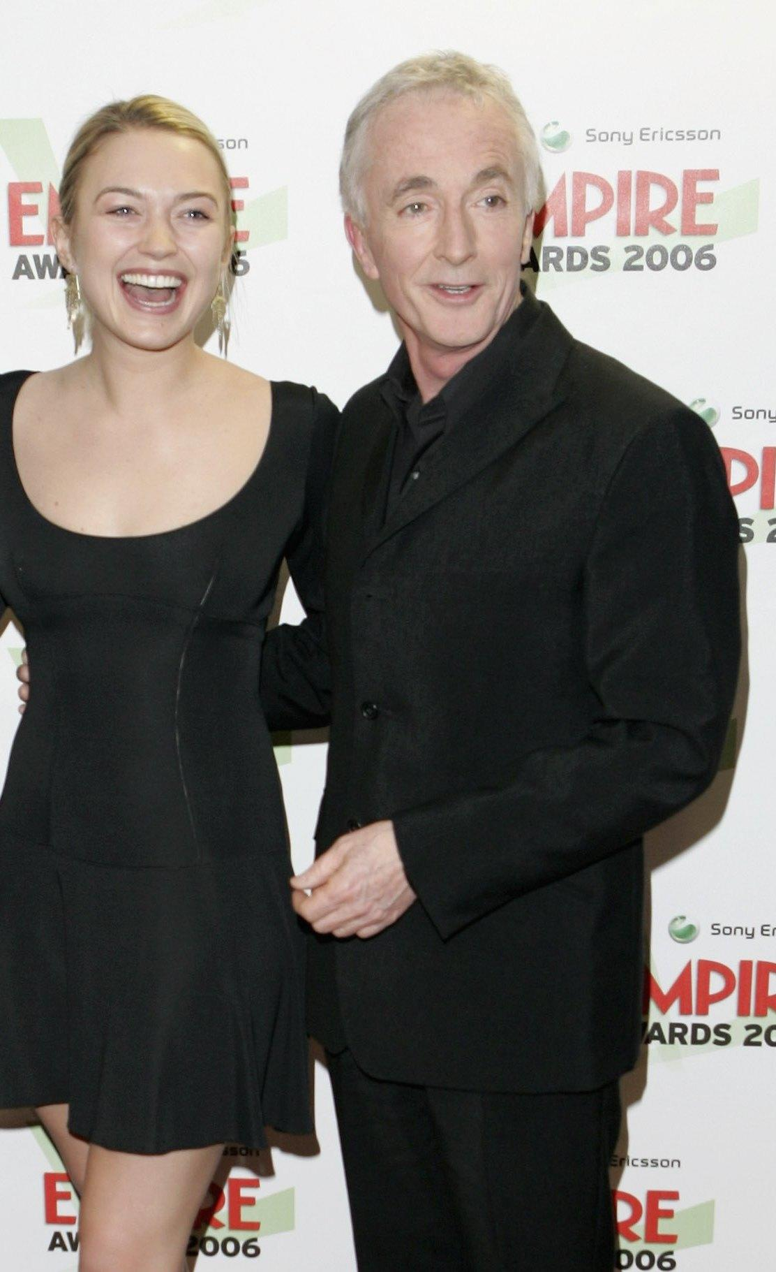 Sophia Myles and Anthony Daniels at the Sony Ericsson Empire Film Awards 2006.