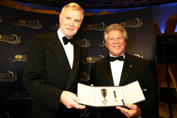 Max Mosley and Mario Andretti at the 2007 FIA Gala Prize Giving Ceremony.