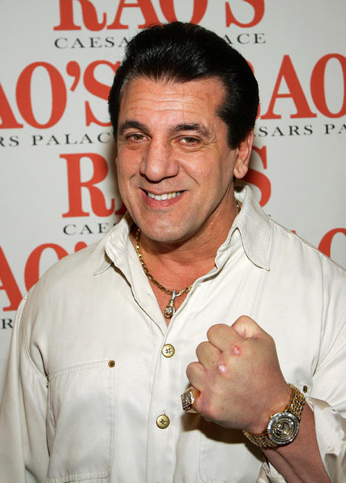 Chuck Zito at the grand opening party for Rao's in Nevada.