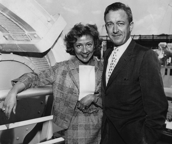 An Undated File Photo of Colette Brosset and Robert Dhery.