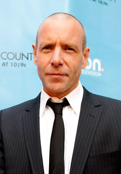 Hugh Dillon at the world record break attempt of ION Media for the Largest Moving Box in New York.