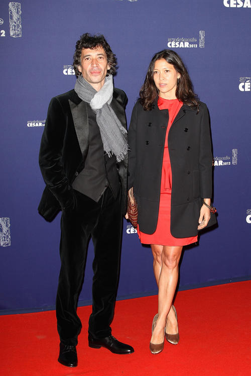 Eric Elmosnino and Victoria at the 37th Cesar Film Awards in France.