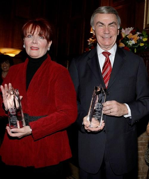 Maureen McGovern and Sam Donaldson at the AFTRA Media and Entertainment Excellence Awards.