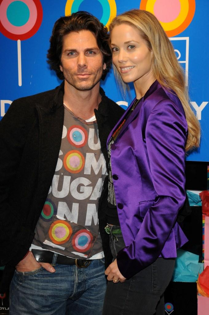 Greg Lauren and Elizabeth Berkley at the Dylan's Candy Bar Relaunch Celebration.