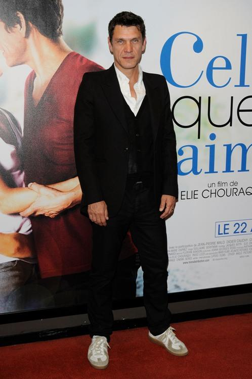 Marc Lavoine at the premiere of