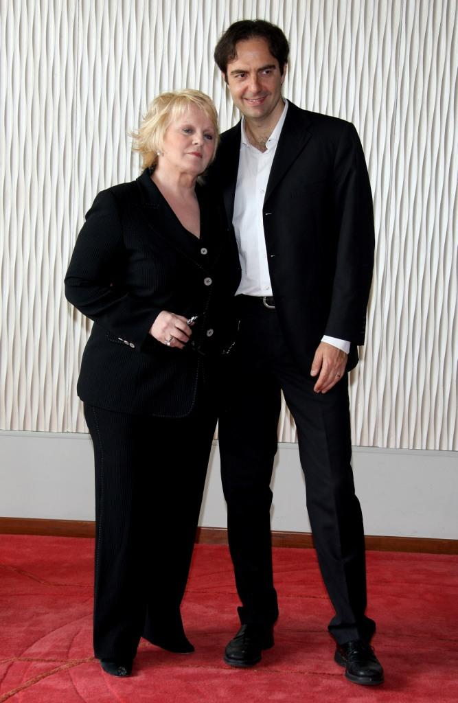 Katia Ricciarelli and Neri Marcore at the photocall of